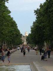 The new plaza outside Nimes' train station