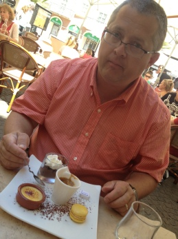Dave and his cafe gourmand.