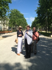 The organizers of the 2013 Hampton University architecture trip to France: Mason Andrews, Ray Gindroz, and Dave Chance.