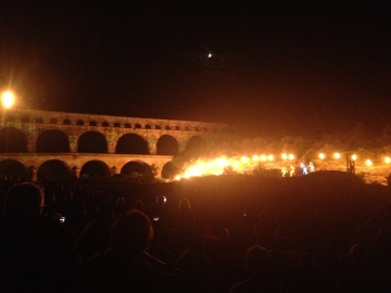 Pont du Gard pyro-technics