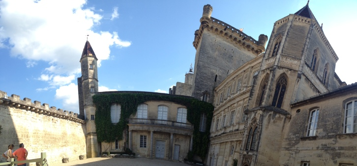 A courtyard of Uzes.
