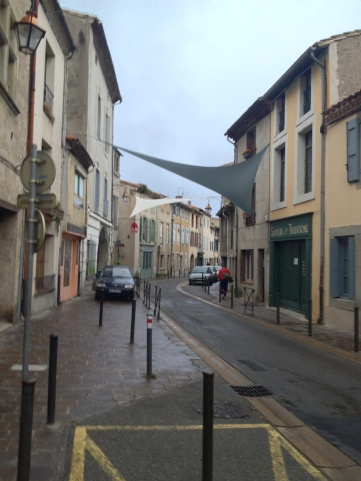 ...canopies provide hints leading you in the direction of the new town...