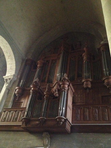 ...a beautiful old pipe organ...