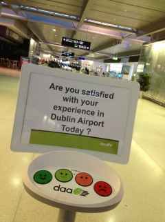 Satisfaction survey in the Dublin airport.