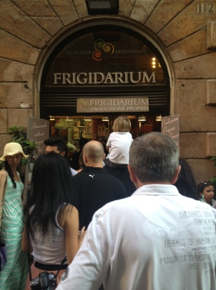 ...I headed east for an ice cream at the Frigidarium (2 Euro for two flavors dipped in chocolate!)....