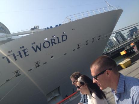 Boarding the ship...