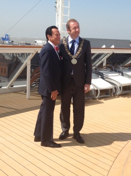 ...with our host and the Lord Mayor.