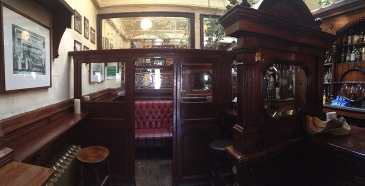 The snug at Ryan's Victorian Pub.