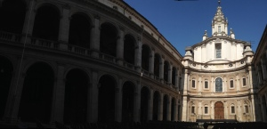 After Navona, I usually continue through the courtyard of San Ivo...
