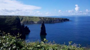 The Bromore Cliffs.