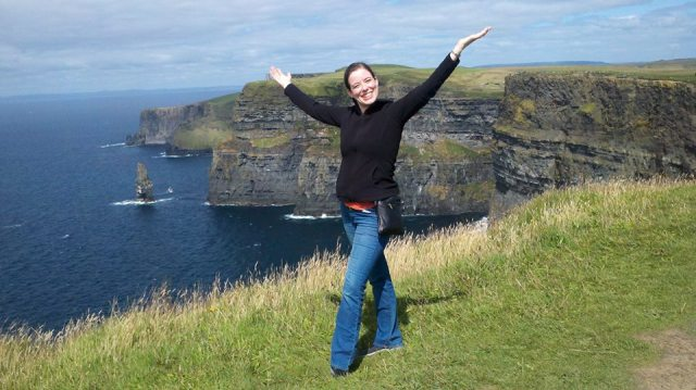 Heather on the Cliffs of Moher!