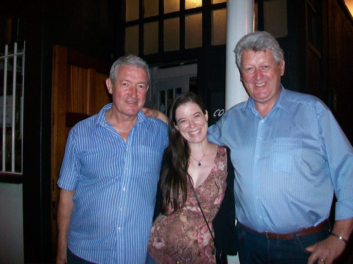 Heather Massie with Neil and Tom Mulligan.