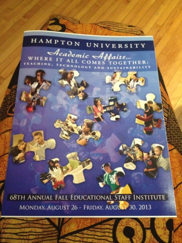 The schedule for the week-long Faculty Institute