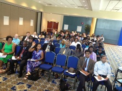 We spoke with half the faculty in each session.
