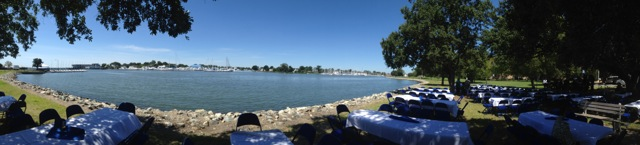 The Hampton waterfront, ready for our faculty picnic