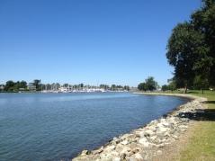 View of the marina across the Hampton River