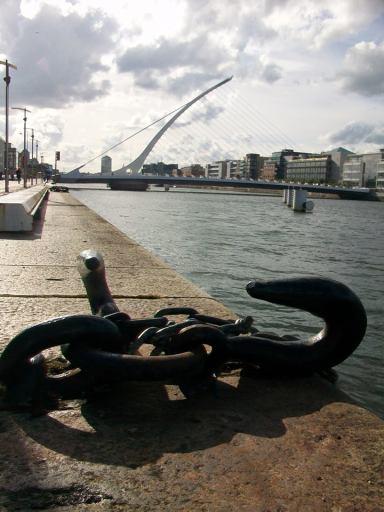 Samuel Beckett Bridge in Dublin.