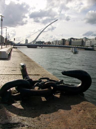 Samuel Beckett Bridge in Dublin.