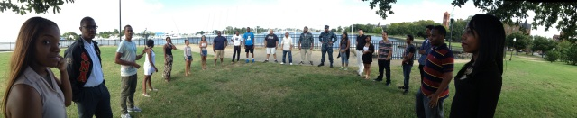 The incoming second year architecture studio cohort at Hampton University.