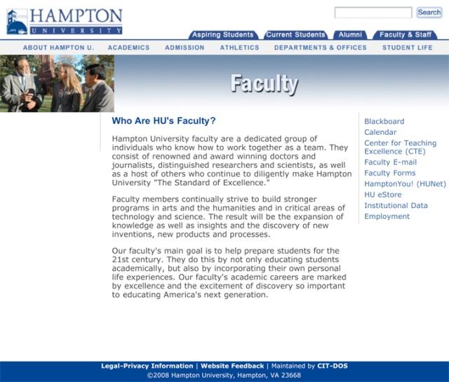 Hampton University _ Faculty