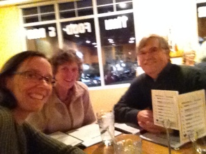 Pre-birthday celebration with friends Wendy and John