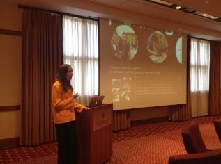 …delivering a presentation…