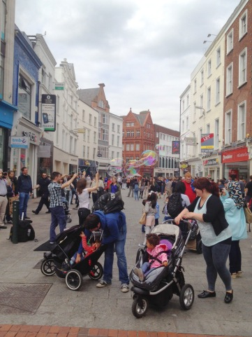 Grafton Street is as vibrant as ever...