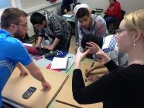 Fionnuala advising an Energy Cube team.