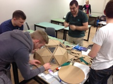 This team built a geodesic dome for their Energy Cube.
