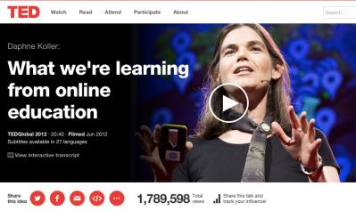 Daphne Kohler's TED Talk on Corsera