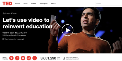 Salman Khan's TED Talk on the Khan Academy