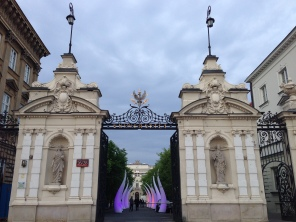 The gates of Warsaw University.