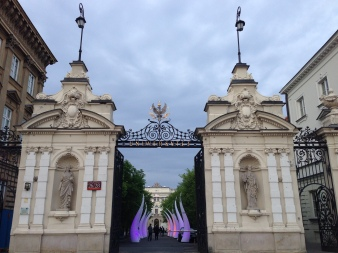 The gates of Warsaw University.