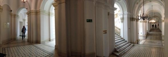 ...a maze of corridors...