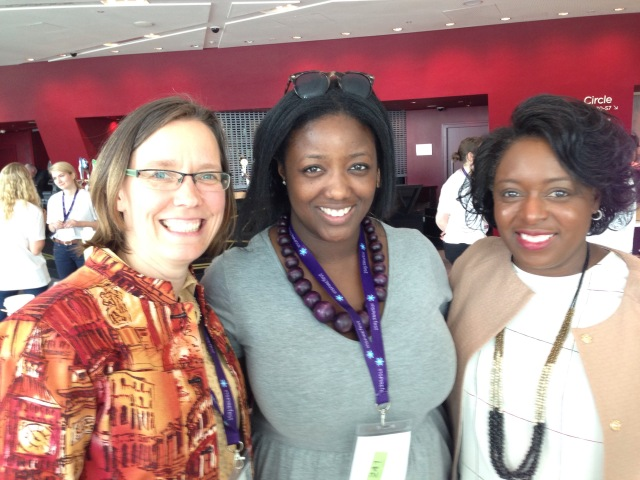 Shannon Chance with the founders of STEMettes (Anne-Marie Imafidon, center) and Black Girls Code (Kimberly Bryant, right).