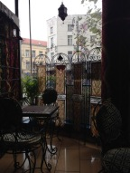 ...at a Moroccan tea house.