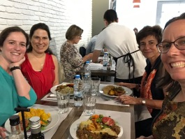 Maria, Luisa, Teresa, and I meeting over an exquisite lunch.