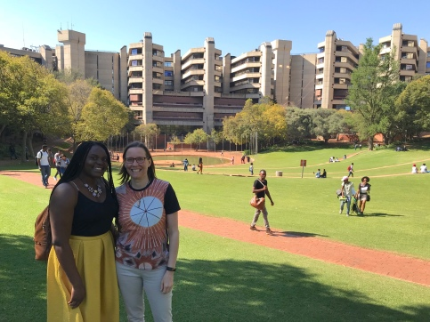 Dr. Folashade (Shade) Akinmolayan and I visiting the University of Johannesburg campus where Yannis and Zach teach engineering.